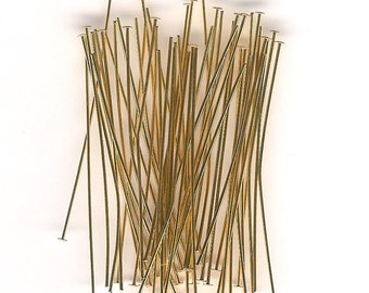 Gold Plated 2 inch Head Pins- 48 piece pack