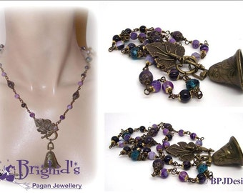 Faerie Bell Necklace - A Most Magical Necklace Amethyst Agate Fairy Jewellery Necklace