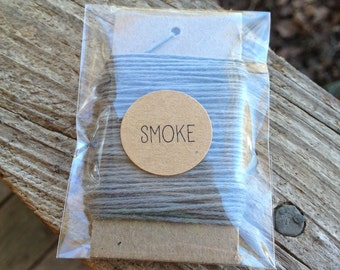 10 Yards - Solid  Baker's  Twine / String • 100% Cotton • Eco Friendly • Gift Wrap • Bakery String • Smoke