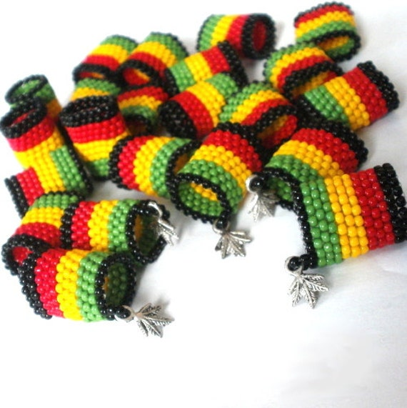 Dreadlock Rasta Beads Beads on Dreadlock Dread