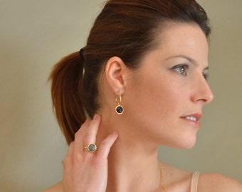 Gold Gemstone Hoop Earrings, gold hoop earrings, gemstone hoop earrings, gold gem hoops, gem hoops, gold earrings, gemstone earring