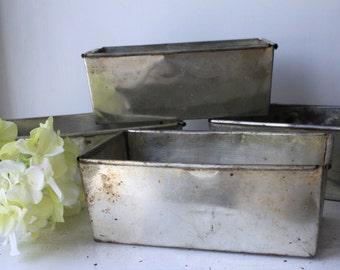 Set of Four Vintage Loaf Pans