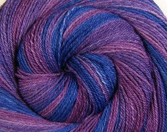 Self-Striping Handspun Yarn - Tenderness of Youth - Handpainted Merino/ SW Merino/ Silk, 3 ply DK weight, 347 yards