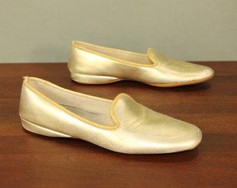 Wedge heel slippers etsy - Ladies bedroom slippers with heel ...