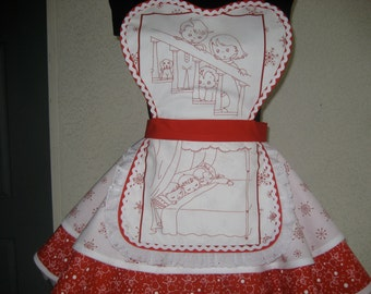 T'was the Night Before Christmas Retro Apron