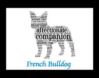 French Bulldog,French Bulldog Art, French Bulldog Custom Print, French Bulldog Gift,French Bulldog Illustration,  French Bulldog Print