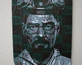 Breaking Bad Multilayer Graffiti Stencil Art on Wood Panel