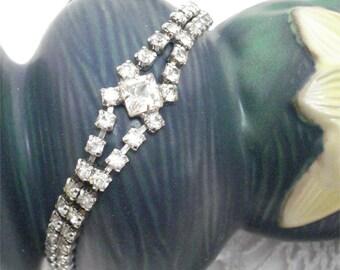 Rhinestone Bracelet Stunning Sparkle Vintage