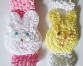 Easter Hair Clips/Easter Headbands/Chick/Bunny/Yellow/White/Pink/Easter Chick Hair Clips/Easter Bunny Headbands/READY TO SHIP