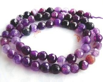 48 AGATE Gemstone Beads 8mm - COD5889