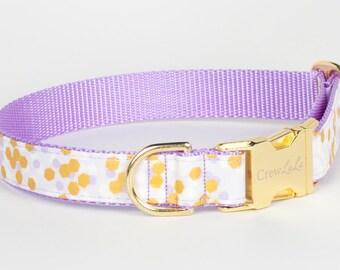 Lavender Honeycomb Dog Collar