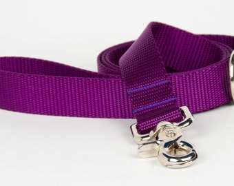 Crew LaLa™ Purple Naked Webbing Dog Leash