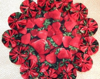 Sweet, Juicy Red Strawberry Doily