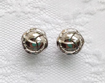"""Silver Ornate Swirl Vintage Style Wedding Pair Plugs Gauges Size: 0g (8mm), 00g (10mm), 1/2"""" (12mm), 9/16"""" (14mm), 5/8"""" (16mm), 3/4"""" (19mm)"""
