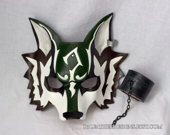Made to Order - Twilight Hero Wolf Leather Mask