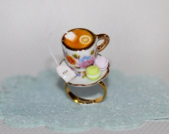 Tea Party Ring - Marie Antoinette Ring -  Pastry ring- Food Jewelry - Food Ring