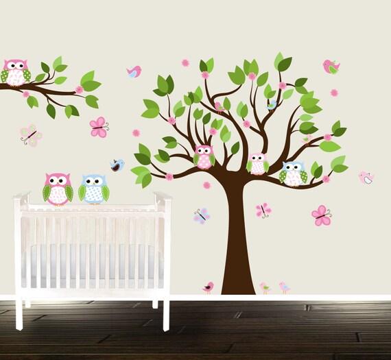 Peel et b ton p pini re arbre stickers p pini re de d calques for Autocollant mural arbre