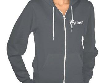 Long Sleeve Solid Ladies/Girls Cotton Hoodie Sweatshirt