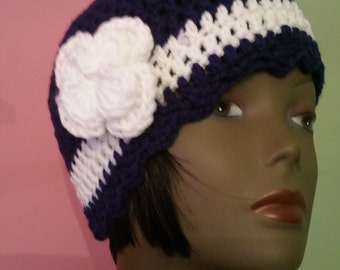Crochet Flapper Hat -  1920