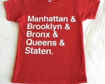 NYC Boroughs Kids T-Shirt