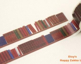 Bookshelf - Japanese Washi Masking Tape - 7.6 yards