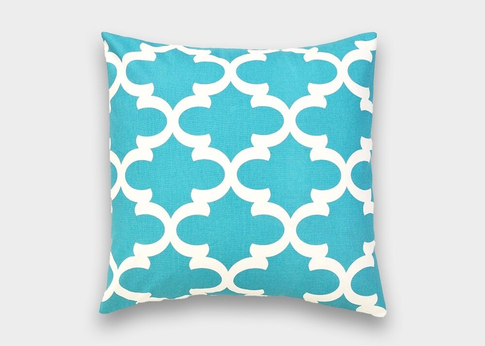 Teal Blue Decorative Pillows : Teal Blue Moroccan Decorative Pillow Cover. by thebluebirdshop