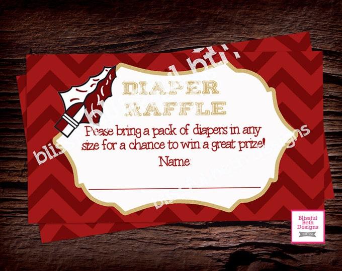 NOLE DIAPER RAFFLE Nole Diaper Raffle Ticket, Diaper Raffle Ticket, Shower Diaper Raffle, Nole Raffle Ticket, Nole Diaper, Nole