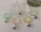 Beautiful Easter Chick Wine Charms