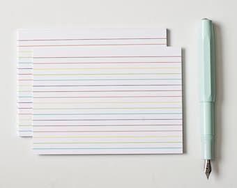Rainbow Index Cards, School Supplies, Teacher Notecards, Mini Stationery, Recipe Cards, Cute Office Supplies, Back to School, Gifts Under 10