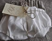 Ensemble de deux pur lin culottes/slips/lin sous-vêtements / lin Lingerie / culotte respectueux de l'environnement