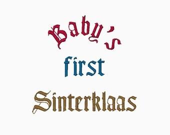 Baby's First Sinterklaas machine embroidery design.