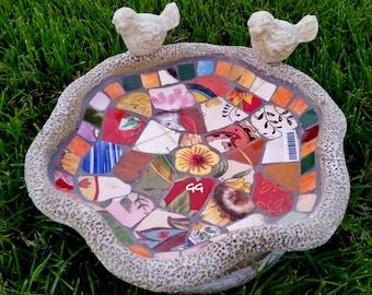 Mosaic Birdfeeder Mosaic Birdbath-rd