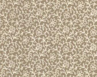FRENCH GENERAL FAVORITES Moda by the half yard cotton quilt fabric floral vine tonal roche grey gray 13607-13