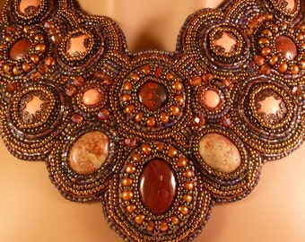 Peruvian Goddess Embroidery Necklace