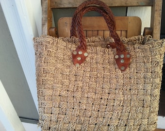 TOTO   ///   Straw Leather Tote