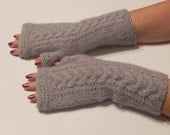 Wool,Arm warmers,Hand knitted, fingerless gloves, Gift Ideas / For Her / Winter Accessories