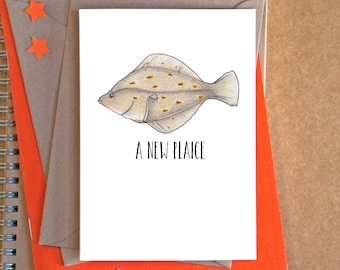 New Plaice Card - New Home Card - new house card - housewarming card - house moving card - welcome to new house card - funny new home card