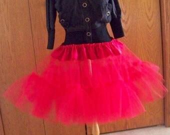 Custom Petticoat Pettiskirt Adult Tutu Tulle Petticoat Lolita Petticoat Kawaii