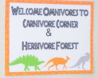 Dino Birthday Party Welcome Sign