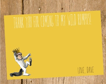 Where the Wild Things Are Thank You Card- Printable