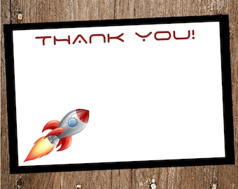 Outer Space Thank You Card- Digital INSTANT DOWNLOAD