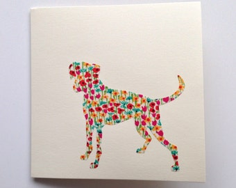 Liberty London Boxer Greeting Card