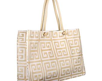 Greek Key City Juco Bag