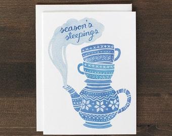 Christmas Card Season's Steepings Holiday greeting