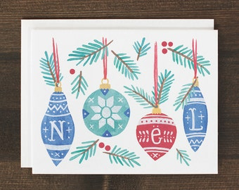 Christmas Card Noel Nordic Holiday greeting