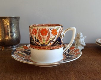 Tiny Grafton China cup and saucer, demitasse and saucer, pattern 5328, 1930s