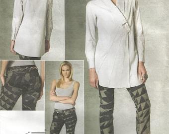 "Uncut Issey Miyake Designer Original Tunic and Pants, Vogue V1204, Sz 14 - 20, Bust 36"" - 42"""