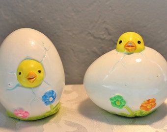 Easter Chicks Vintage Painted Eggs