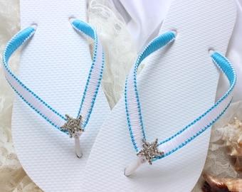 Beach flip flops, women flip flops, beach wedding flip flops, beach wedding shoes, casual wedding shoes, bridal footwear, wedding thongs