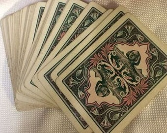 Antique Fortune Telling Cards - The Nile 68X - Gold Edge with Box 1897-1904 - Complete!